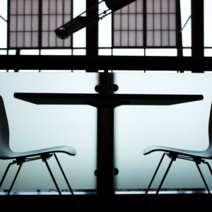 two chairs in a room for an Ex-Felons job interview
