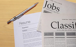 resume and newspaper