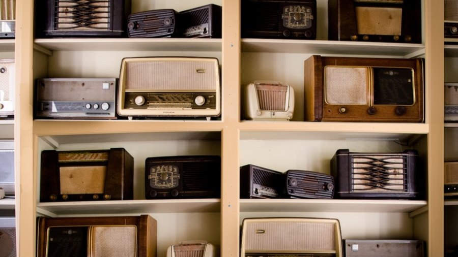 Collection of vintage radio as symbol of radio actors who are one of the jobs that no longer exist