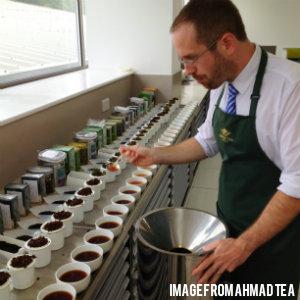 a man testing teas