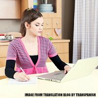 Translator at work - best work from home job