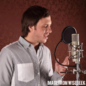 man doing a voice over