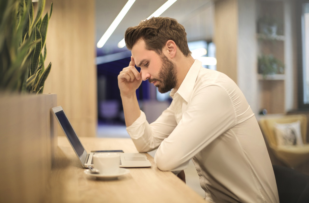 man thinking - job or career