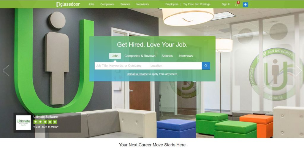Glassdoor - online job search tools