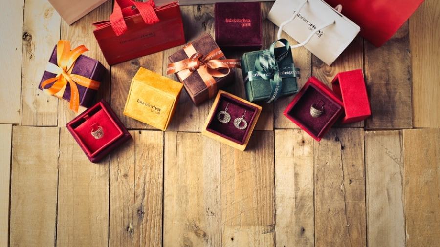 Gifts in different wrappings and sizes for office gift-giving