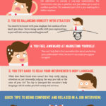 job interviews feel awkward infographic