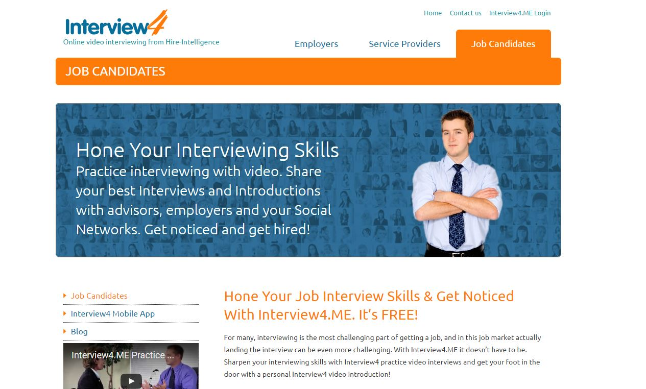 Interview4.me: interactive job interview tools