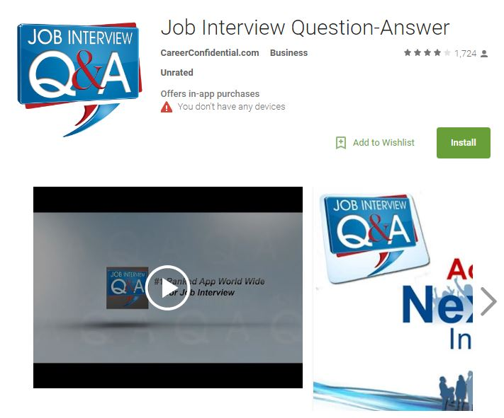 job interview question-answer: interactive job interview tools