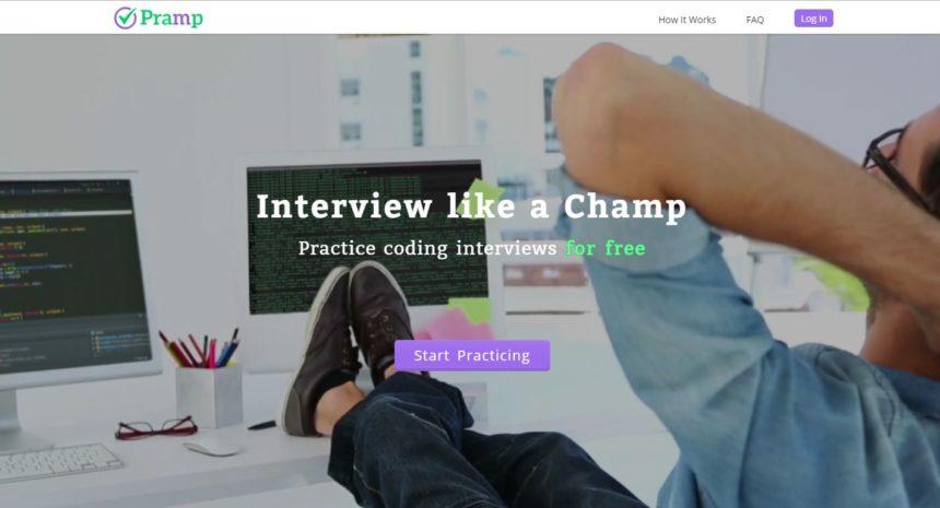 Pramp: interactive job interview tools