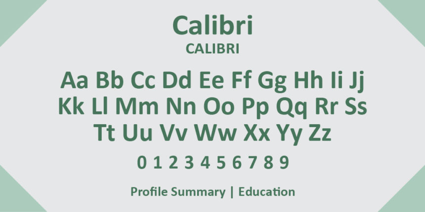 calibri as one of the best resume writing fonts