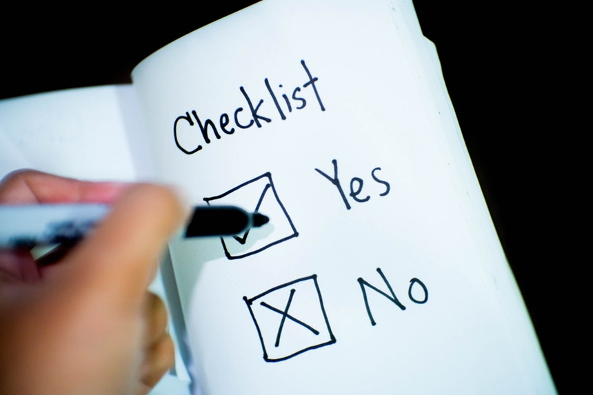image of a sample IT resume checklist