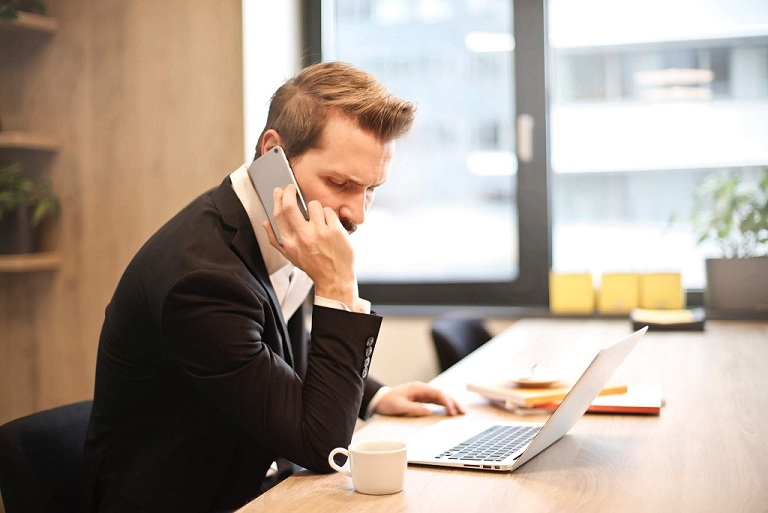 Job Discrimination_Man calling on the phone