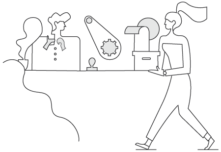 doodle of people working - Best 10 Resume Writers