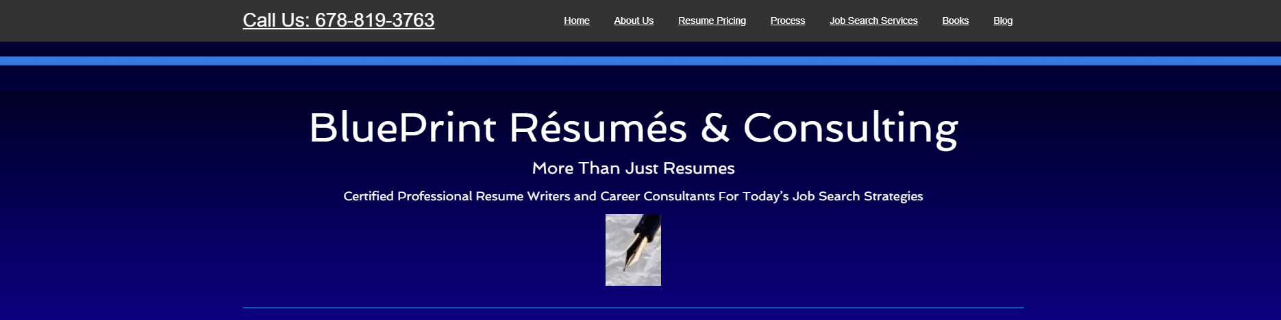 10 Best Resume Writers in 2020 – screenshot of BluePrint Resumes & Consulting homepage