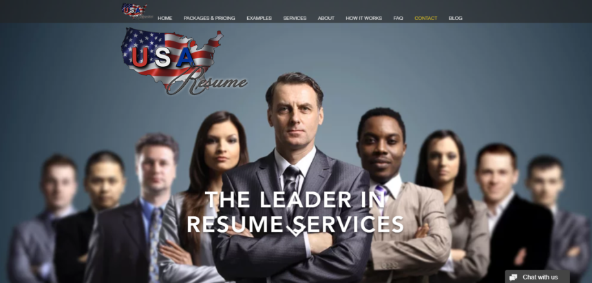 USA Resume logo with several resumes writers crossing their arms