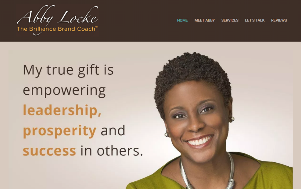 Screen grab abby locke and her executive career coaching and resume writing services