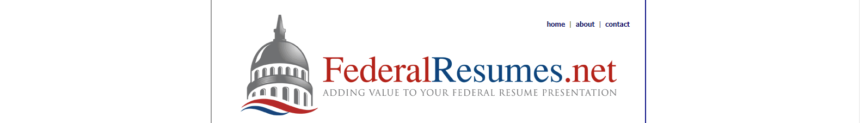 screen grab of Federal Resumes.net's banner