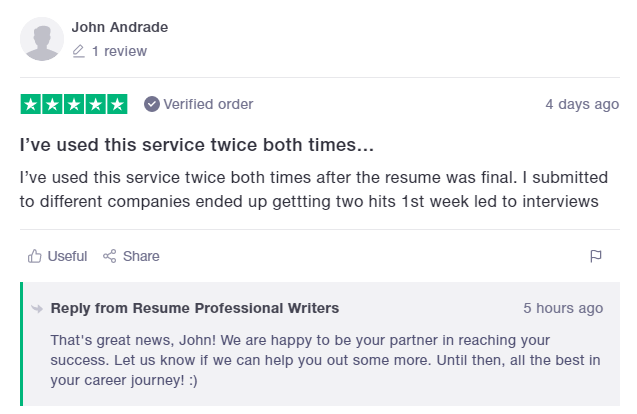 10 Best Sales and Marketing Resume Writing Services: Resume Professional Writers Reviews (Trustpilot)