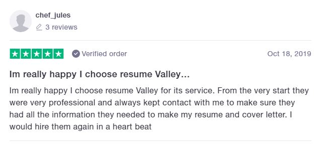 10 Best Marketing Resume Writing Services: Resume Valley Review (TrustPilot)