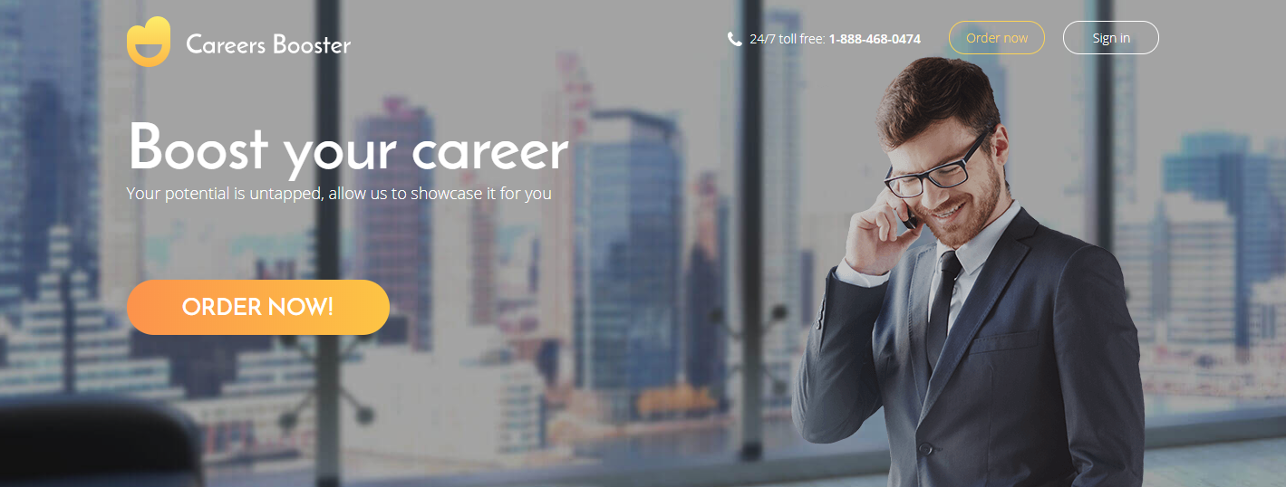 Top 6 IT Resume Writing Service - Screenshot of Careers Booster Homepage