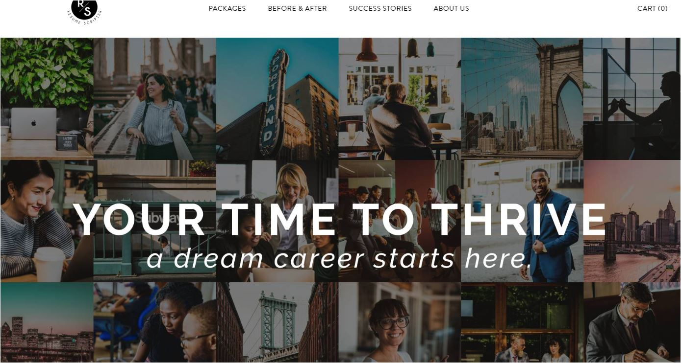 Best Sales Resume Services for 2020 - Screenshot of Resume Scripter Homepage