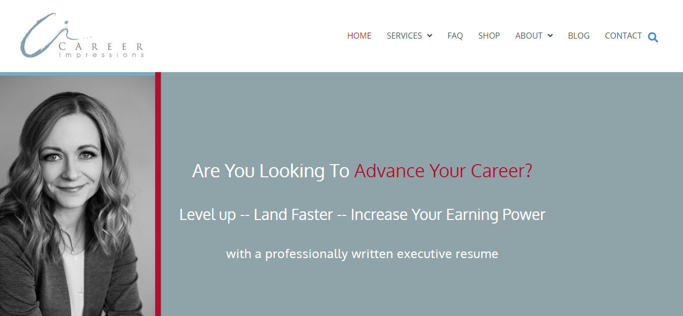 Header image of Career Impressions offering best executive resume writing services