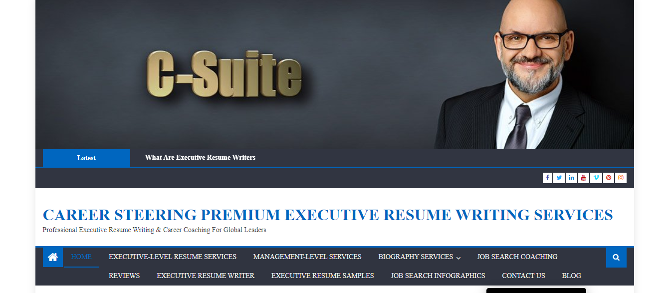 Header image of Career Steering offering best executive resume writing services
