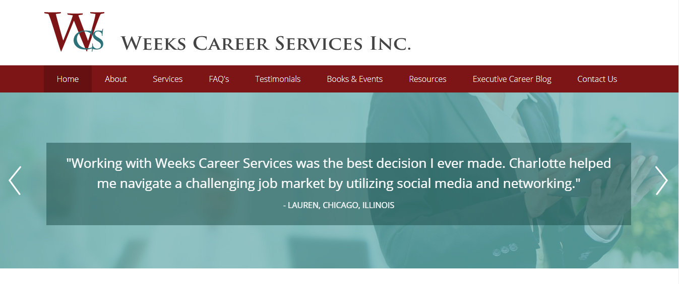 Header image of Weeks Career Services Inc offering best executive resume writing services