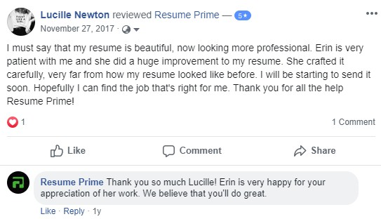 Screenshot of a review of Resume Prime as one of the 10 best medical resume writing services