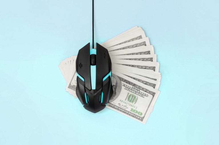 pay for resume is an investment online, characterized by dollar bills under a computer mouse
