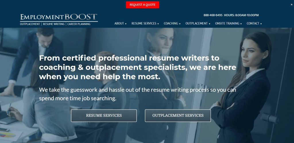 Federal Resume Writing Service in 2021 – Employment Boost Homepage