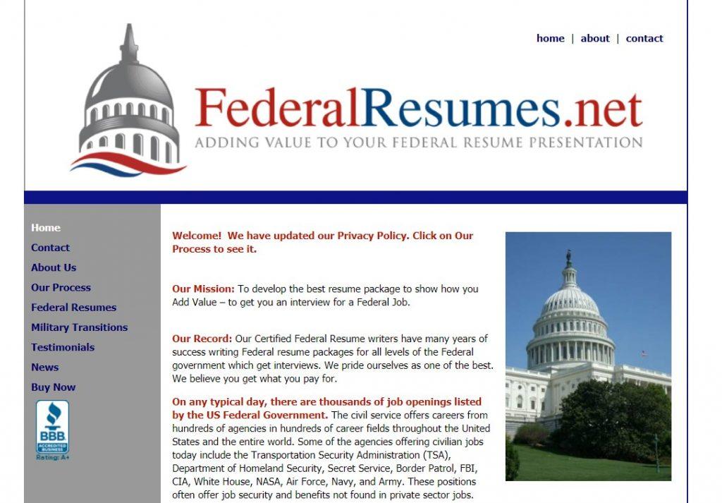 Federal Resume Writing Service in 2021 – FederalResumes.netHomepage